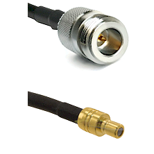 N Reverse Polarity Female on RG58C/U to SMB Male Cable Assembly