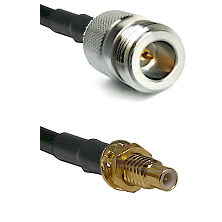 N Reverse Polarity Female on RG58C/U to SMC Male Bulkhead Cable Assembly