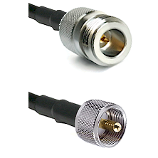 N Reverse Polarity Female on RG58C/U to UHF Male Cable Assembly
