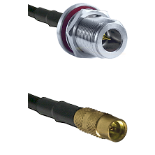 N Reverse Polarity Female Bulkhead Cable Assembly to LMR100 to MMCX Female Cable Assembly