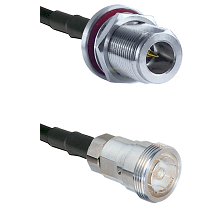 N Reverse Polarity Female Bulkhead on LMR200 UltraFlex to 7/16 Din Female Cable Assembly