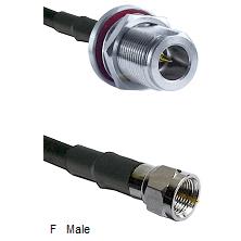 N Reverse Polarity Female Bulkhead Connector On LMR-240UF UltraFlex To F Male Connector Coaxial Cabl