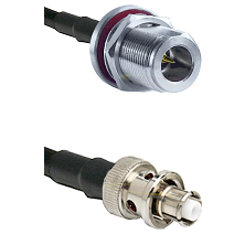 N Reverse Polarity Female Bulkhead Connector On LMR-240UF UltraFlex To SHV Plug Connector Coaxial Ca