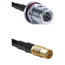 N Reverse Polarity Female Bulkhead on RG58C/U to MCX Female Cable Assembly
