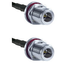 N Reverse Polarity Female Bulkhead on RG58C/U to N Reverse Polarity Female Bulkhead Coaxial Cable As