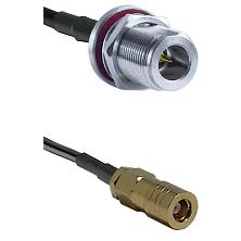 N Reverse Polarity Female Bulkhead on RG58C/U to SLB Female Cable Assembly
