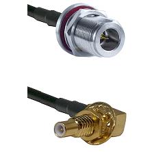N Reverse Polarity Female Bulkhead on RG58C/U to SLB Male Bulkhead Cable Assembly