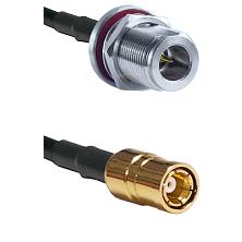 N Reverse Polarity Female Bulkhead on RG58C/U to SMB Female Cable Assembly