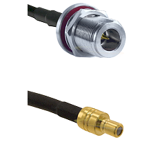 N Reverse Polarity Female Bulkhead on RG58C/U to SMB Male Cable Assembly