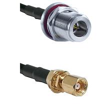 N Reverse Polarity Female Bulkhead on RG58C/U to SMC Female Bulkhead Cable Assembly