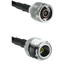 N Reverse Polarity Male on LMR100/U to N Female Cable Assembly