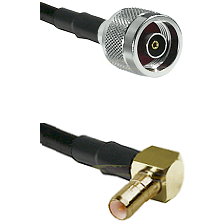 N Reverse Polarity Male on LMR100 to SSMB Right Angle Male Cable Assembly