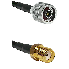 N Reverse Polarity Male on LMR100 to SMA Female Cable Assembly