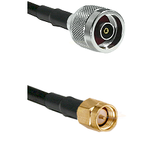 N Reverse Polarity Male on LMR100 to SMB Male Cable Assembly
