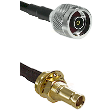N Reverse Polarity Male on LMR-195-UF UltraFlex to 10/23 Female Bulkhead Cable Assembly