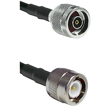 N Reverse Polarity Male Connector On LMR-240UF UltraFlex To C Male Connector Cable Assembly