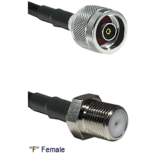 N Reverse Polarity Male Connector On LMR-240UF UltraFlex To F Female Connector Coaxial Cable Assembl