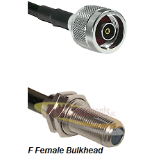 N Reverse Polarity Male Connector On LMR-240UF UltraFlex To F Female Bulkhead Connector Coaxial Cabl