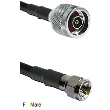 N Reverse Polarity Male Connector On LMR-240UF UltraFlex To F Male Connector Cable Assembly