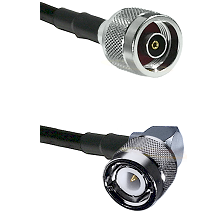 N Reverse Polarity Male Connector On LMR-240UF UltraFlex To C Right Angle Male Connector Coaxial Cab