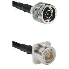 N Reverse Polarity Male on RG142 to 7/16 4 Hole Female Cable Assembly