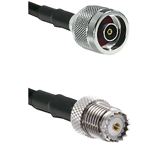 N Reverse Polarity Male on RG58 to Mini-UHF Female Cable Assembly