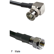 BNC Reverse Polarity Right Angle Male Connector On LMR-240UF UltraFlex To F Male Connector Coaxial C