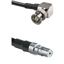 BNC Reverse Polarity Right Angle Male on LMR240 Ultra Flex to QMA Female Cable Assembly