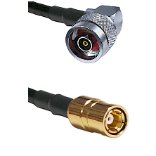 N Reverse Polarity Right Angle Male on RG58C/U to SMB Female Cable Assembly