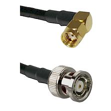 SMA Reverse Polarity Right Angle Male on LMR-195-UF UltraFlex to BNC Reverse Polarity Male Coaxial C
