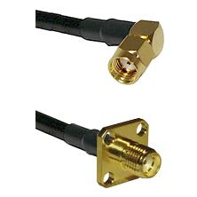 SMA Reverse Polarity Right Angle Male on LMR-195-UF UltraFlex to SMA 4 Hole Female Coaxial Cable Ass