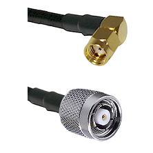SMA Reverse Polarity Right Angle Male on LMR240 Ultra Flex to TNC Reverse Polarity Male Coaxial Cabl
