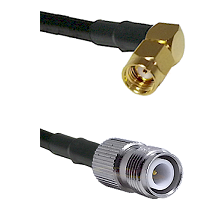 SMA Reverse Polarity Right Angle Male on RG142 to TNC Reverse Polarity Female Cable Assembly