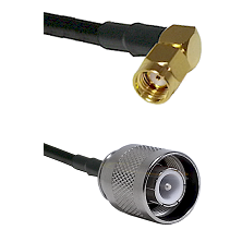 SMA Reverse Polarity Right Angle Male on RG142 to SC Male Cable Assembly
