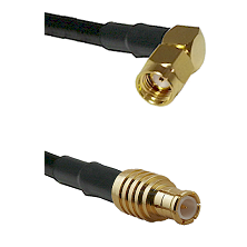 SMA Reverse Polarity Right Angle Male on RG58 to MCX Male Cable Assembly