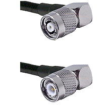 TNC Reverse Polarity Right Angle Male on Belden 83242 RG142 to TNC Right Angle Male Coaxial Cable As
