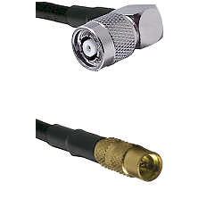 TNC Reverse Polarity Right Angle Male on LMR100 to MMCX Female Cable Assembly
