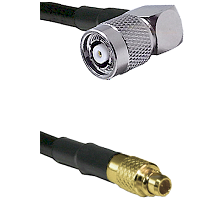 TNC Reverse Polarity Right Angle Male on LMR100 to MMCX Male Cable Assembly