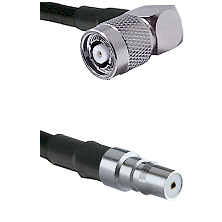 TNC Reverse Polarity Right Angle Male on LMR100 to QMA Female Cable Assembly