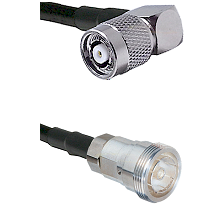 TNC Reverse Polarity Right Angle Male on LMR-195-UF UltraFlex to 7/16 Din Female Coaxial Cable Assem
