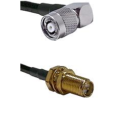 TNC Reverse Polarity Right Angle Male on LMR200 UltraFlex to SMA Reverse Polarity Female Bulkhead Co