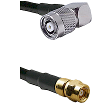 TNC Reverse Polarity Right Angle Male on LMR200 UltraFlex to SMC Male Cable Assembly