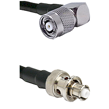 TNC Reverse Polarity Right Angle Male Connector On LMR-240UF UltraFlex To SHV Plug Connector Coaxial