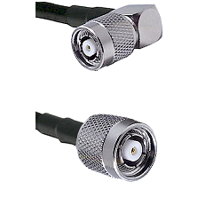 TNC Reverse Polarity Right Angle Male on RG188 to TNC Reverse Polarity Male Cable Assembly