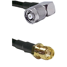 TNC Reverse Polarity Right Angle Male on RG316DS Double Shielded to SSMA Female Cable Assembly