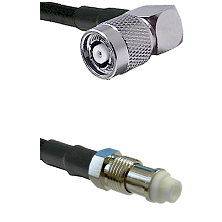 TNC Reverse Polarity Right Angle Male on RG400 to FME Female Cable Assembly