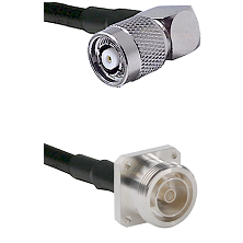 TNC Reverse Polarity Right Angle Male on RG58C/U to 7/16 4 Hole Female Cable Assembly
