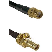 SMA Reverse Polarity Female on LMR200 UltraFlex to 10/23 Female Bulkhead Cable Assembly