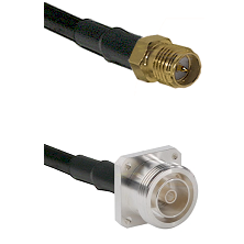 SMA Reverse Polarity Female Connector On LMR-240UF UltraFlex To 7/16 4 Hole Female Connector Coaxial