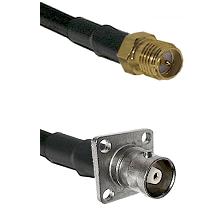 SMA Reverse Polarity Female Connector On LMR-240UF UltraFlex To C 4 Hole Female Connector Coaxial Ca